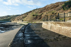 Sea defences and walkways Royalty Free Stock Photos