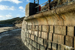 Sea defences and walkways Royalty Free Stock Photography