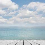 Sea and desk table Stock Photo