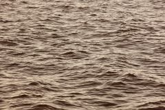 Sea detail in warm tone. Tranquil waters. Nature background Royalty Free Stock Photo