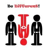 ¡Sea diferente! Imagen de archivo libre de regalías