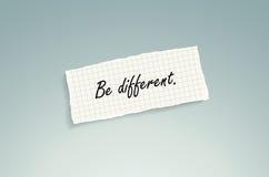 Sea diferente Foto de archivo libre de regalías