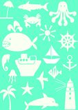 Sea. Different forms of leisure and travel on the sea Stock Illustration