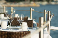 Sea dining Royalty Free Stock Images