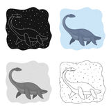Sea dinosaur icon in cartoon style isolated on white background. Dinosaurs and prehistoric symbol stock vector Stock Photos