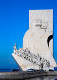 Sea discoveries monument. In Lisbon. Padrao dos descobrimientos royalty free stock image