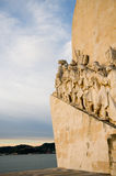 Sea-Discoveries monument in Lisbon. Sculpture on the Discoveries Age and Portuguese navigators in Lisbon, Portugal Royalty Free Stock Photography