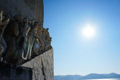 Sea-Discoveries monument in Lisbon, Portugal Stock Images