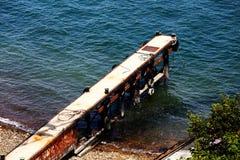 Sea and dock stock image