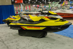 Sea-Doo Personal Watercraft on display Royalty Free Stock Photography