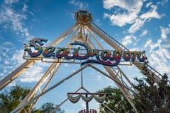 Sea Dragon Ride in Rehoboth Beach Delaware Stock Image