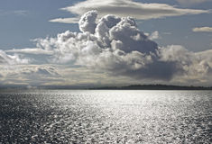 Sea and dramatic clouds Royalty Free Stock Image
