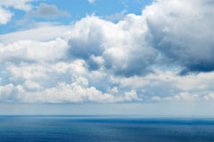 Sea and dramatic sky Stock Photos