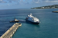 Sea Dream 1 Docking Bridgetown Barbados Stock Photos