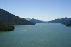 Sea-drowned valleys of Marlborough  Sounds. New Zealand Royalty Free Stock Photos