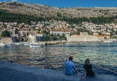 Sea in Dubrovnik Royalty Free Stock Image