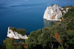 Sea of Duino. The old Duino's castle, in Italy, close to a beautiful sea Royalty Free Stock Image