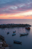 Sea at dusk Stock Photography