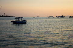 The sea at dusk. The sea at dusk in thailand Royalty Free Stock Photography