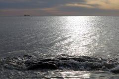 The sea at dusk Royalty Free Stock Photo