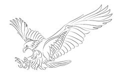 Sea eagle tattoo Royalty Free Stock Images