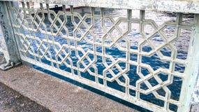 Sea edge guardrail Background. Unit isolate Stock Photography