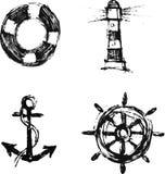 Sea elements set Royalty Free Stock Photography