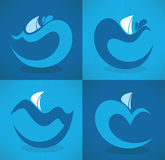 Sea emblems Stock Photography