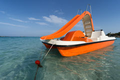 Sea empty pedalo Royalty Free Stock Photos