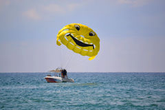 Sea entertainments. Parachute. Stock Photography