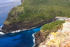 Sea entrance to the Gulch on Lord Howe Island Stock Photos