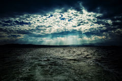 The Sea and Epic Clouds Stock Photography