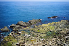 Sea-Eroded Terrain of Badouzi & x28;Daping Coastal& x29; in Zhongzheng District, Keelung, Taiwan. Stock Images