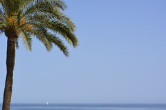The sea from estepona Stock Photos