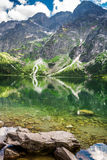 Sea eye Tatras Stock Photography