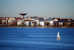 The sea facade of Helsinki Royalty Free Stock Photos