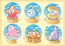 Sea Family with Background Stock Images