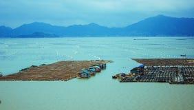 The sea farms Stock Photos