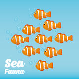 Sea fauna cartoon Royalty Free Stock Photo