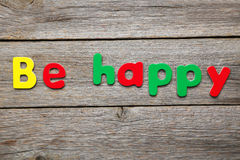 Sea feliz Fotos de archivo libres de regalías