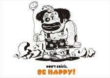 ¡Sea feliz! Fotografía de archivo libre de regalías