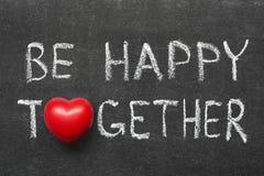 Sea feliz junto Foto de archivo libre de regalías