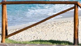 Sea through the fence Stock Photo