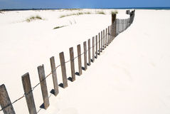 Sea fence at seashore Royalty Free Stock Photo