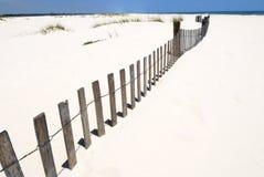 Sea fence at seashore Royalty Free Stock Photo