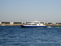 Sea Ferry at Boston Harbour Royalty Free Stock Images