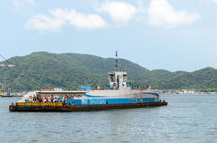 Sea ferry that crosses between Santos and Guarujá Stock Images