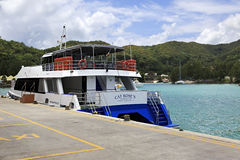 Sea ferry on the dock at port Royalty Free Stock Photo
