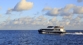 Sea ferry on the Indian Ocean Stock Photo