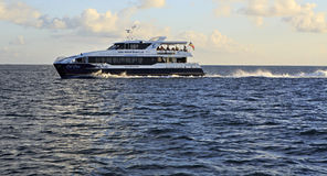 Sea ferry on the Indian Ocean Royalty Free Stock Photo